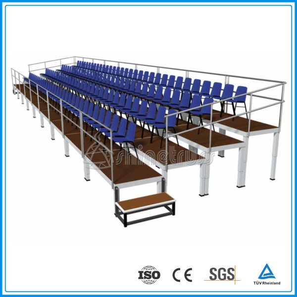 TUV Product Safety Certification basketball Portable seating system outdoor aluminum bleacher