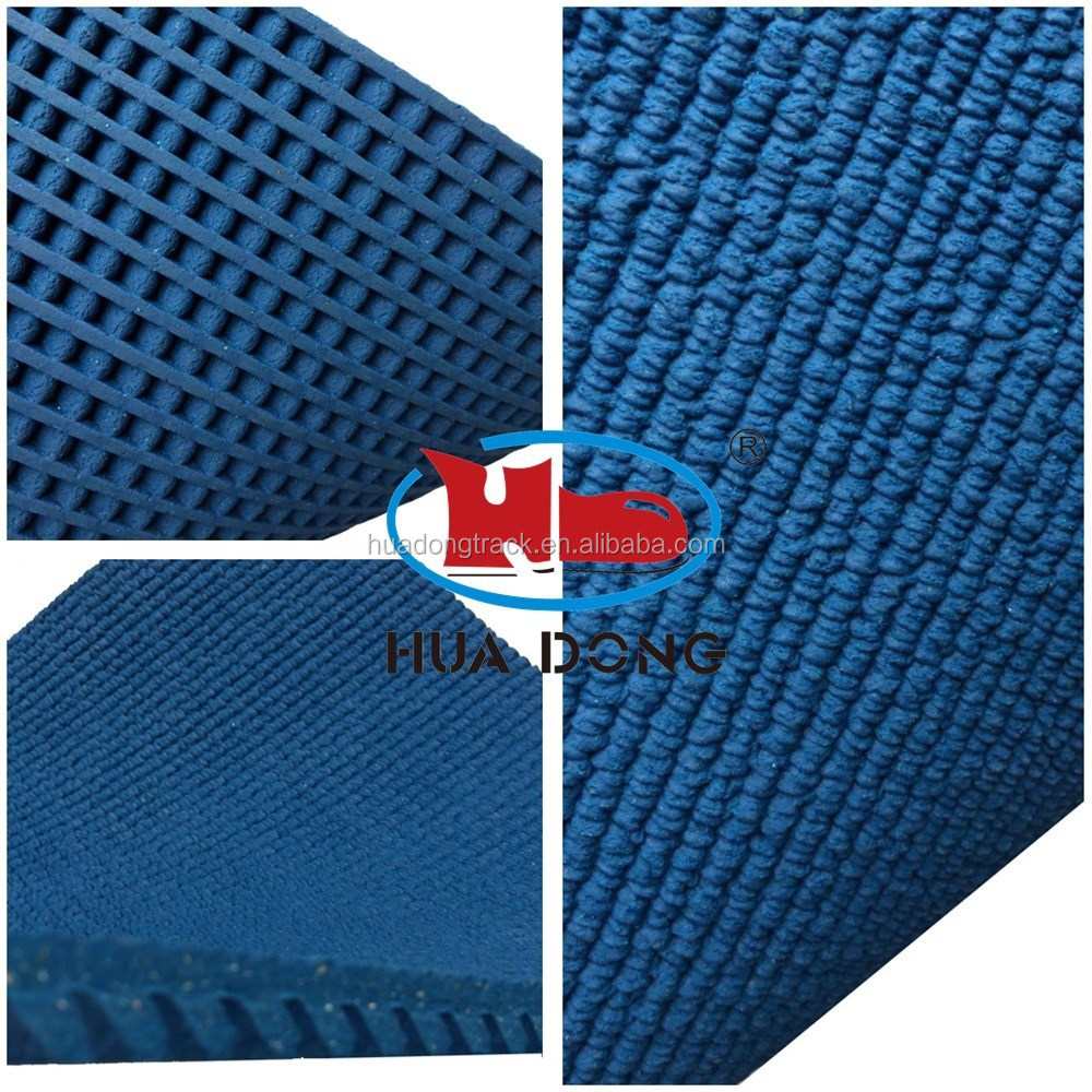 Rubber coiled material for running track