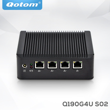 Qotom computer for network appliance linux x86 ubuntu barebone with rs232 industrial 12v multi lan fanless mini pc