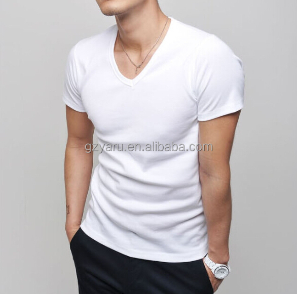 china wholesale mens v neck t shirts