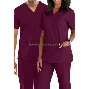 100% Polyester Medical Nursing Scrubs Uniform, Standard Textile Scrubs Manufacturers