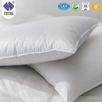 Cotton White Standard Polyester Fiber Filling Hotel Pillow