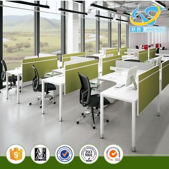 melamina moderno persona abierta oficina de trabajo de mobiliario de oficina