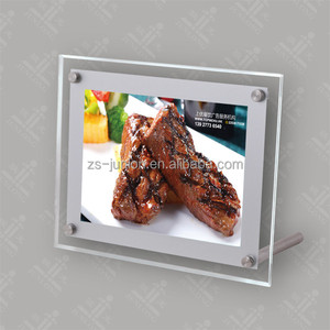 Battery power operated led picture frame crystal light box