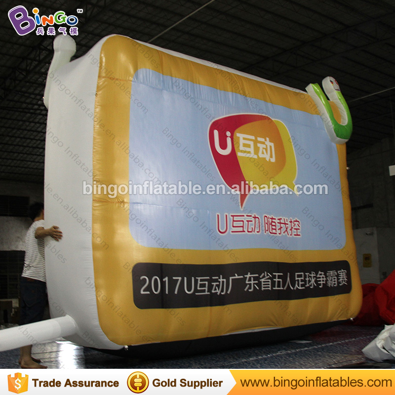 Portable outdoor inflatable billboard TV balloon for promotion