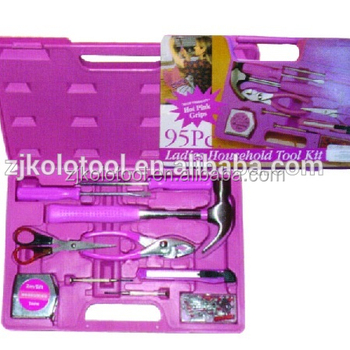 Hot Pink Lady Tool Sets Of Hand