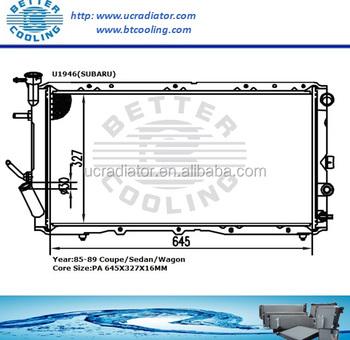 Radiator Manufacturers China/radiator For Subaru Coupe/sedan/wagon ...