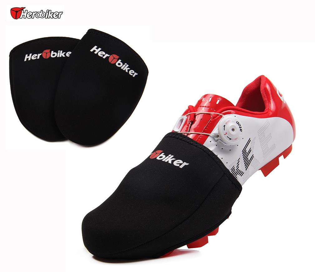Closed toe medical walking shoe foot protection boot - Get Quotations Herobiker Half Sole Cycling Shoe Toe Cover Bike Bicycle Boot Toe Cover Road Racing Protector Keep