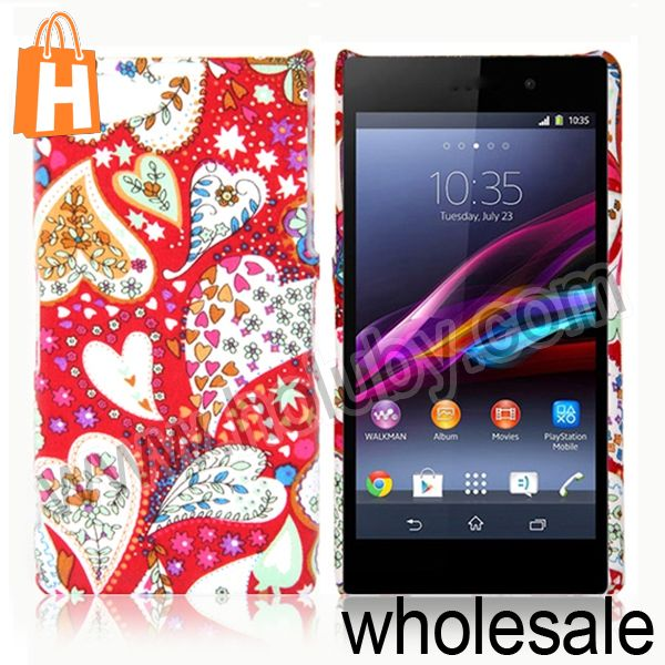 Case for Sony Z1 Mini Colorful Hearts Pattern Hard PC Back Cover Case for Sony Xperia Z1 Mini