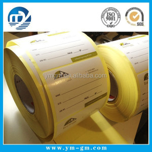 Blank sticker paper roll , roll blank label sticker , label printing machine roll sticker