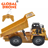 HuiNa Toys 1540 Remote Control mini dumper 6CH 1/12 40HMZ RC Metal Dump Truck Toys RTR With Charging Battery rc pickup trucks