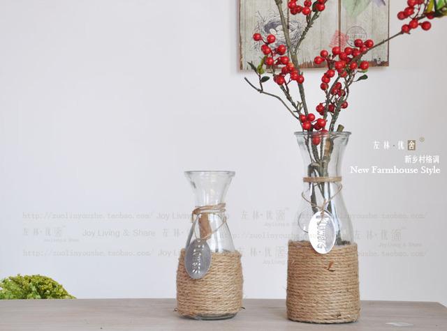 acheter accueil vase d coration corde de. Black Bedroom Furniture Sets. Home Design Ideas