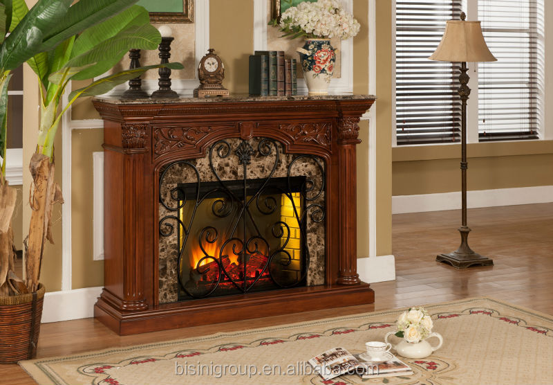 Bisini faux stone electric fireplace polystone electric - Chimeneas artificiales decorativas ...