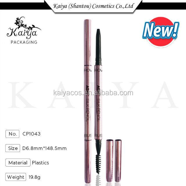 Kaiya Manufacturer Cosmetics Packaging Empty Ultra-fine Nib Eyebrow Pencil With Brush