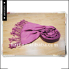 Fashion manufacturer custom cheap solid color 100% cashmere scarf