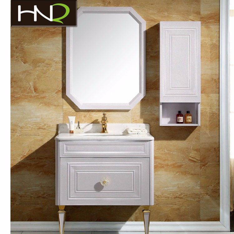 stainless steel bathroom vanities with wooden design for bathroom