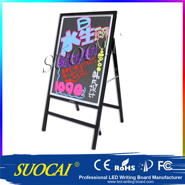 Hot selling wooden standing menu chalk board signs