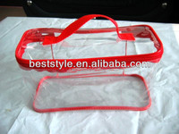 Drawstring Large clear PVC quilt bag with slider