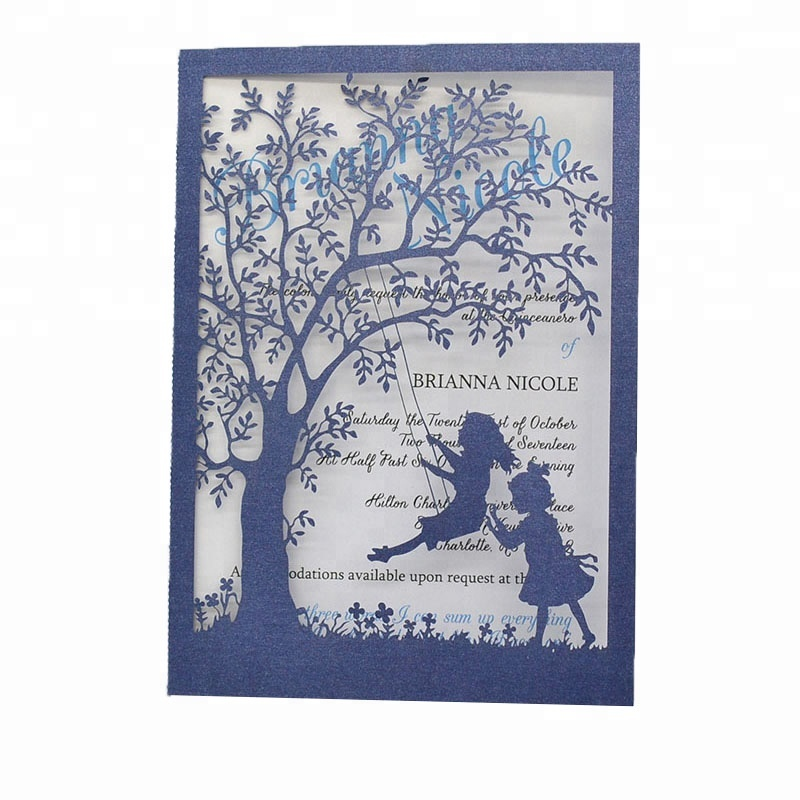 0e2fd6893 Laser Cut Tree Invitation Baby Milestone Birthday Invitation Cards For Baby  Girls - Buy Baby Naming Ceremony Invitation Cards