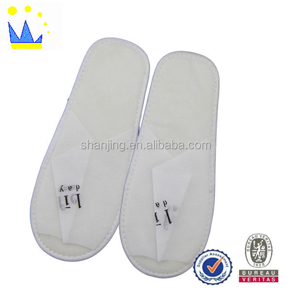 funny velvet soft and comfortable hotel slippers simple slippers
