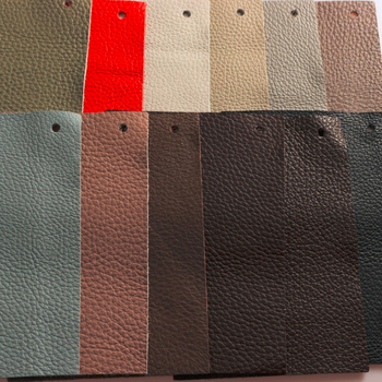 Thick corrected leather with natural emboss hide grain cow skin leather fabric