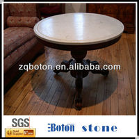 carrara white marble quartz stone round table top for indoors furniture design