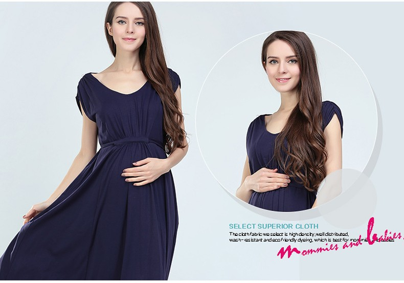 MamaLove Europe long Maternity Clothes Maternity dress Breastfeeding Dresses Maxi Nursing Dresses