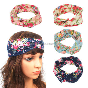 Boho Headband Women Hairband Print Cotton Knot Headbands for Women Fashion Accessories Hairband Cotton