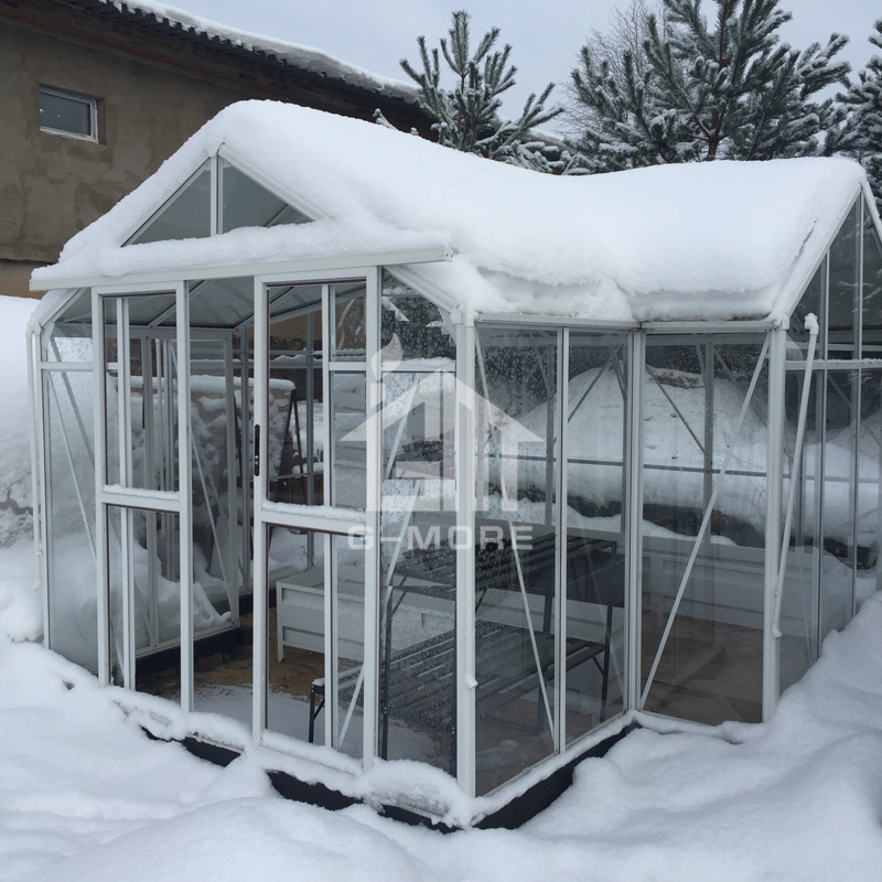 G-MORE Super Strong 4MM Safety Glass Orangery Greenhouse
