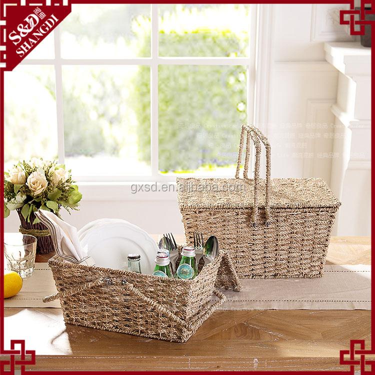 S&d Rectangular Wholesale Seagrass Baskets Hanging Storage Basket ...