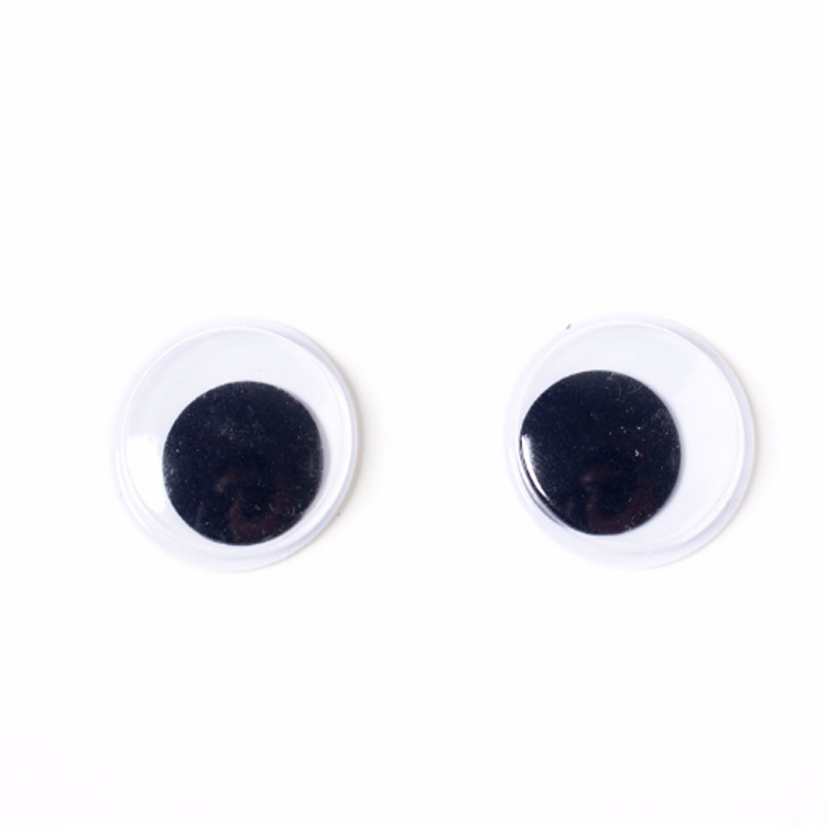 Stock HBYJ180727-24mm 24mm size plastic moving black wiggle <strong>eyes</strong>