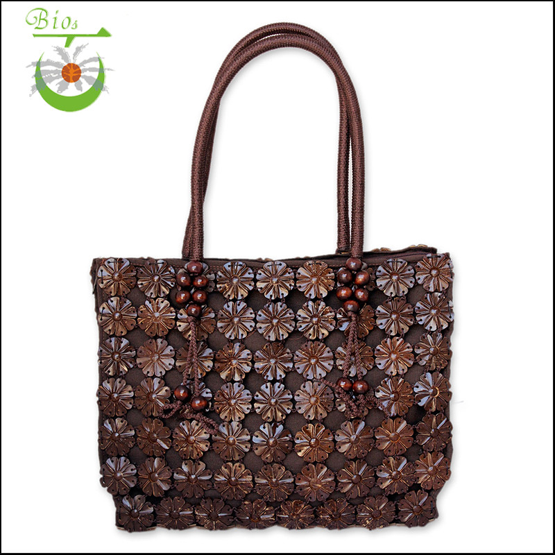 Unique Single Shoulder Strip Beach Tote Bag Or Handbag For Lady From Chinese Manufacturer Coconut Shell