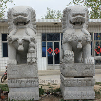Chinese Stone Lion Garden Animal Statues , Buy Animal Statue,Garden Animal  Statue,Garden Decoration Statue Product on Alibaba.com
