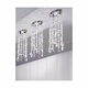lead crystal Ceiling Decor pendants and matt nickel parts Ceiling Lamp