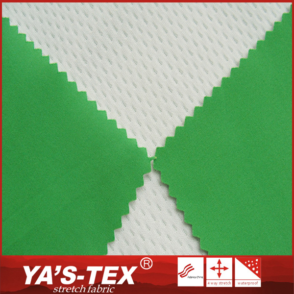 Hot selling breathable mesh stretch polyester 4 way stretch fabric for outdoor sportswear
