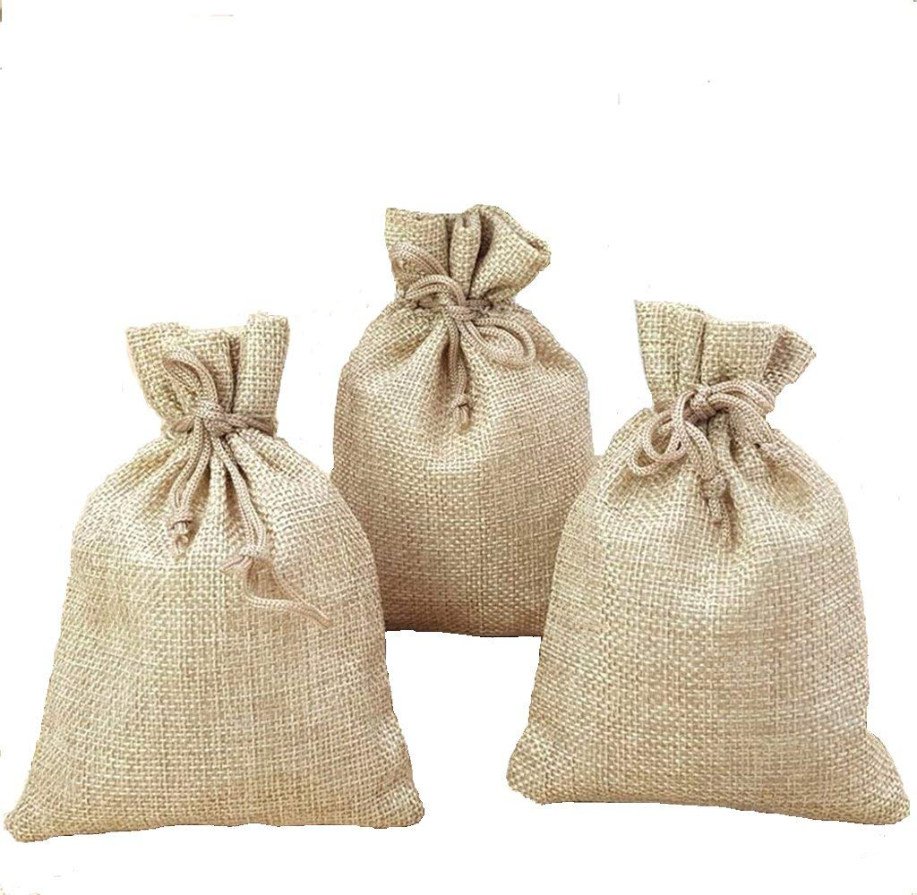 Arts /& Crafts Projects Honbay 20PCS 4 X 6 inch Burlap Bags Gift Bags Linen Jewelry Bags Candy Bags with Drawstring for Wedding,Party Favors