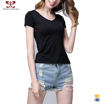 Women Plain Printed T-Shirt
