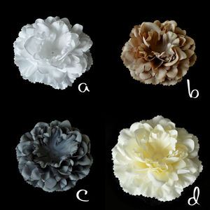NEW Unfinished Peony Flower - Fabric Flower -- DIY - Flower Flat back