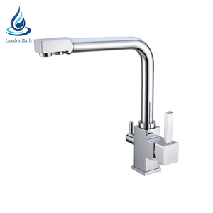 Hot & cold water 3 way kitchen sink mixer tap