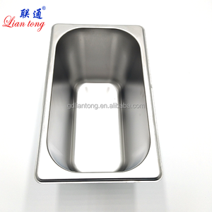 American style stainless steel hotel gn pans 1 4 ice cream gastronorm pan