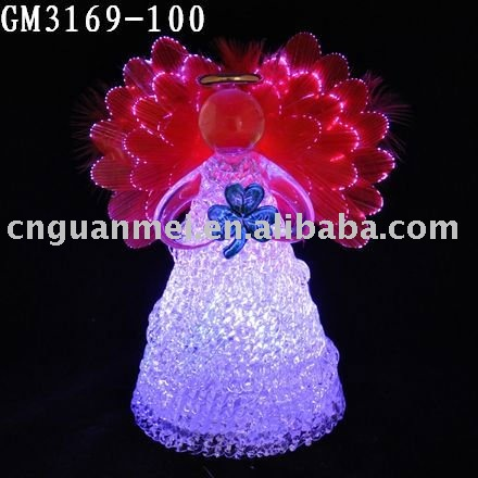 Beautiful light changing angel fiber optic angel wings