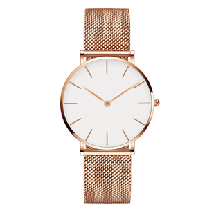 High quality waterproof IP Rose Gold steel mesh fashion hot sale luxury lady watch