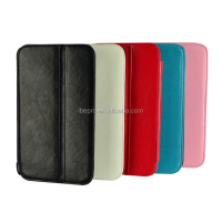 Folding PU Leather Case with Pen Slot for Samsung Galaxy Tab3 7.0