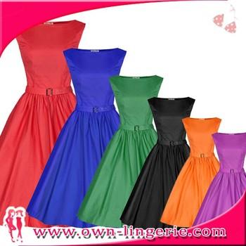 Ladies Dresses Vintage 1950s 1960s Rockabilly Dress Plus Size 1950s