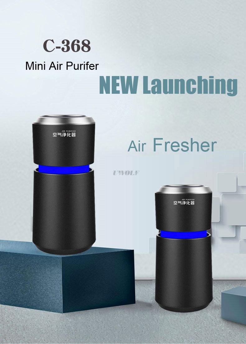 Yeni arabalar Mini elektrikli hava araba arıtma Ionizer araba hava temizleyici ile Hepa üç katmanlar filtre