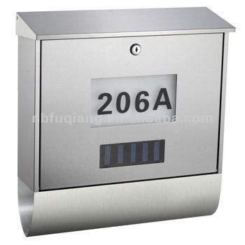 Edelstahl Briefkasten Mit Fq-125 Solar Hausnummer - Buy Product on ...