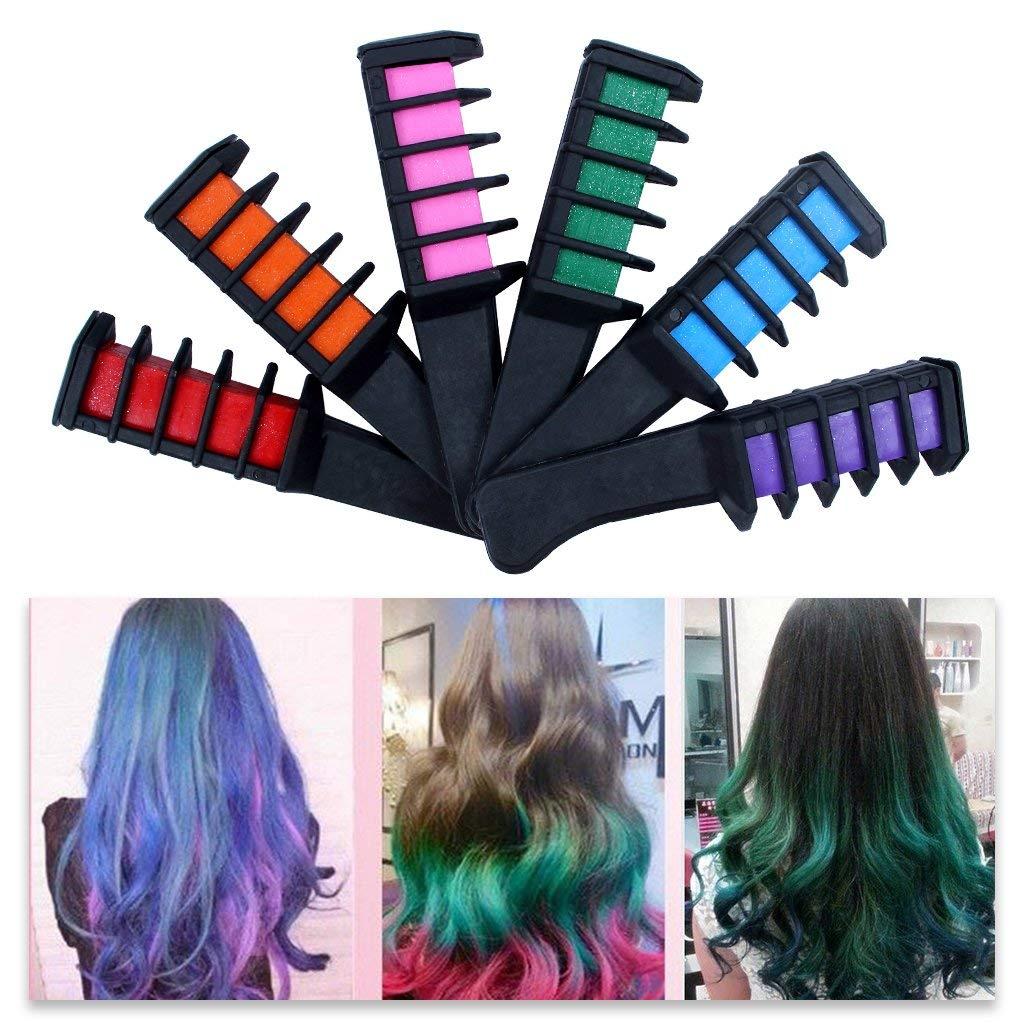 Lotusflower Temporary Hair Chalk Comb Non Toxic Washable Salon Hair