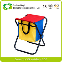 New Picnic Stool Folding Camping Chair with Cooler Bag