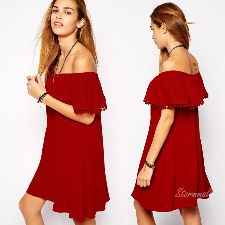 Buy Summer Style Red Dress Womens Plus Size Short Sundress Desigual Party Dresses  2015 Beach Ruffle Robe Vintage Vestidos Femininos in Cheap Price on ... 95851ed7ab38