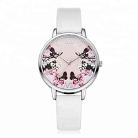 Beautiful gift top selling trendy design popular japan quartz flower watch for woman